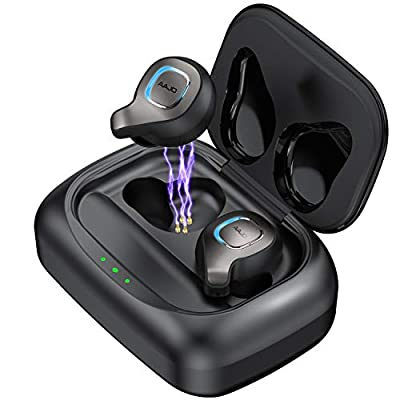 Wireless Earbuds Bluetooth Headphones Bluetooth 5.0 with Charging Case Wireless Earphones Waterproof in-Ear Headset Premium Stereo Hi-Fi Sound with Deep Bass Compatible with iPhone XS/XR/X/8/7/6/6s,Android,Samsung,Huawei and More Device