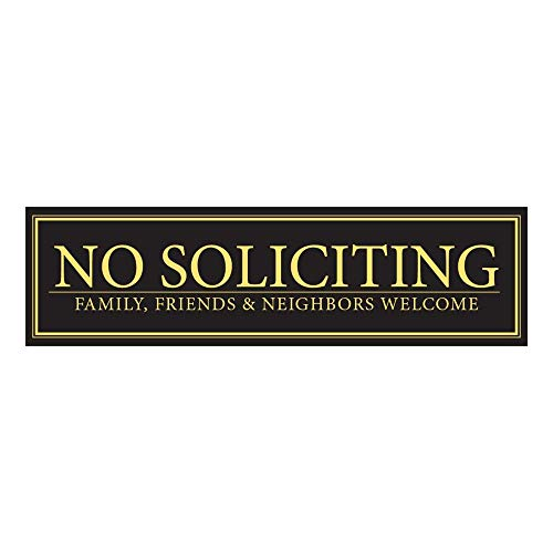 """No Soliciting - Family, Friends, & Neighbors Welcome Door Magnet - The Perfect""""No Soliciting"""" Sign for Metal Doors and Frames (2.5"""" x 9"""")"""