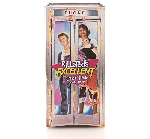 Barry & Jason Games & Entertainment - Bill & Ted's Excellent Historical Trivia Travel Game - Fun Board Games for Adults - Family Games for Family Game Night - Magnetic History Trivia Game - 13 and Up