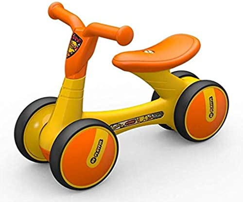 Kinder Balance Bike, Baby Balance Bike Kinder Walker Kinder Fahrt Infant Walking Toys,Orange,A