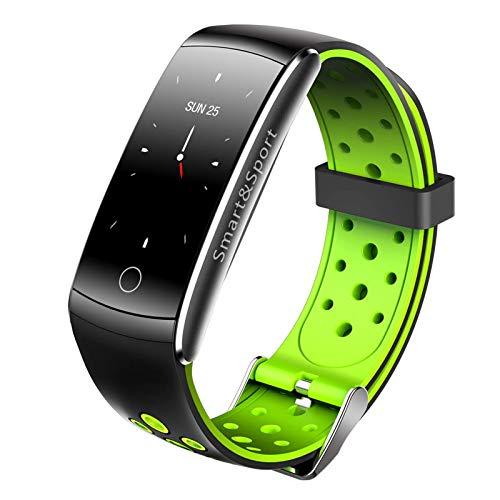 Gymqian Sport Smart Watch Actividad Impermeable Fitness Tracker Pulsera Smart Watch Empease la Ritmo Cardíaco Incorporado Monitor de Sueño para el Teléfono Android de Ios, Fácil de