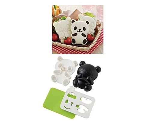 DIY Picnic Kitchen Panda Mold Rice Mold Onigiri Shaper Dry Roasted Seaweed Cutter Set 4 in 1 Bento Accessories