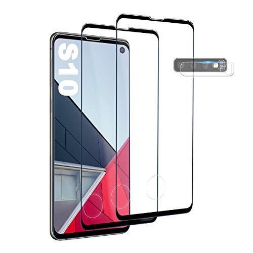 Galaxy S10 Panzerglas Schutzfolie, [2 Stück] Hohe Qualität Gehärtetem Glass [Fingerabdrucksensor Kompatible] [Kamera Schutzfolie] [HD Clear] Displayschutzfolie für Samsung Galaxy S10