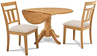 Burlington 3 Piece small kitchen table set-kitchen table and 2 dining chairs in Oak finish