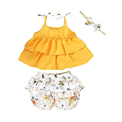 Amazon - Save 35%: Truly One Little Girl Summer Outfit Set Kids Floral Clothes Set