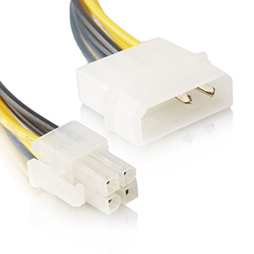 Mainboard Anschlusskabel | Molex IDE 2-Pin zu 4-Pin | ATX P4 12V ATX CPU Stromkabel Stromanschluss Adapter-Kabel - MOVOJA