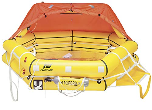 Plastimo Transocean 6-Personen Rettungsinsel ISO 9650-1, 35 kg, Packmaß 80x48x32 cm, inklusive Packtasche