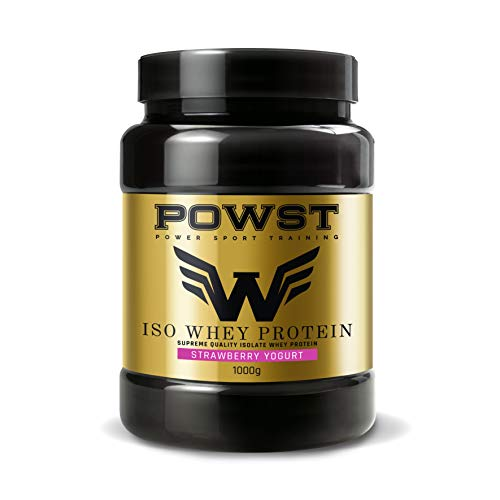 POWST Premium Quality Whey-Isolate Proteína Yogurt with Strawberries 1000g.