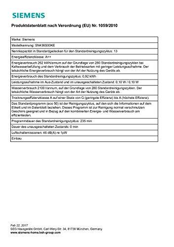 Siemens SN436S00KE iQ300 Geschirrspüler / A++ / - 9