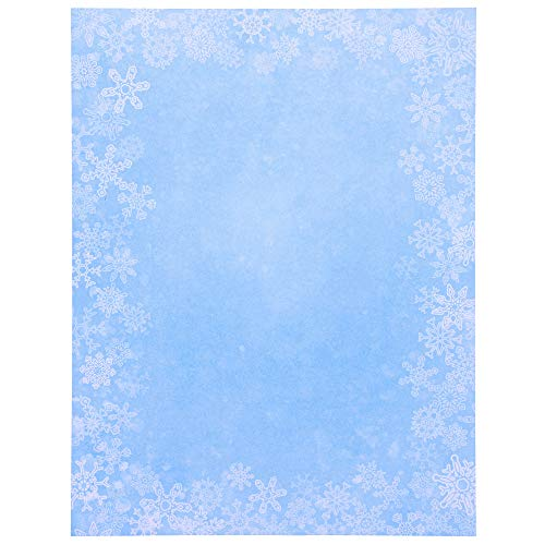 Merry Christmas Snowflakes Stationery Printer Paper (Letter Size, 96 Sheets)