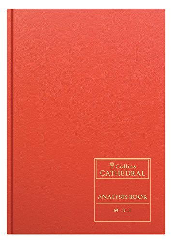 Collins Cathedral Analysis Book 69/3.1 - Libro de registro para iglesias, (96 páginas, tapa dura, 30.2 x 21.4 x 1.2 cm), color naranja