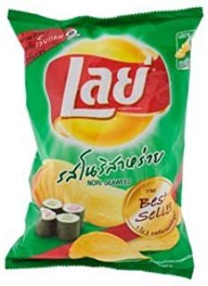 Potato Chips Lays Classic Nori Seaweed Taste 80g Import From Thailand.
