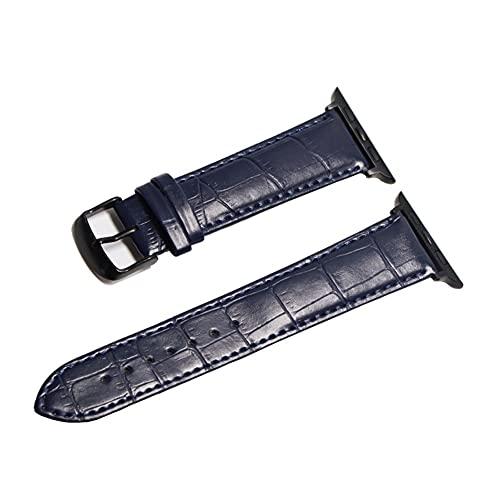 HANRUO Accesorios para relojes de diseño, correas de 42 mm, correa de 38 mm (color de la correa: azul oscuro y negro, ancho de la correa: 44 mm)