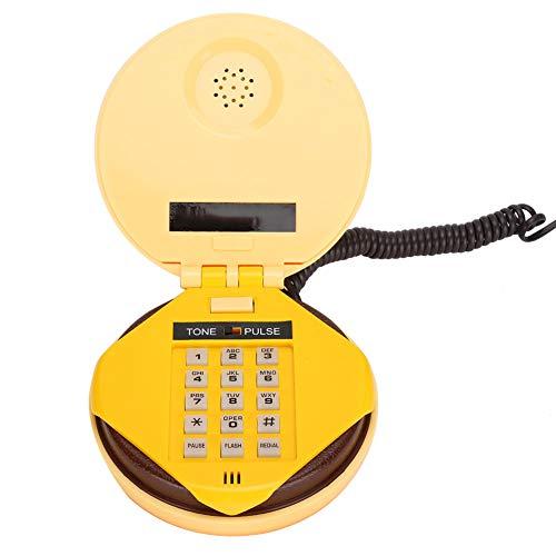 gostcai wx-3019 Novedad Emulational Hamburger Phone Teléfono Fijo de Escritorio con Cable para Regalo para Amigos o Familiares, Flash de Soporte, Remarcación, Marcación por frecuencia de Voz