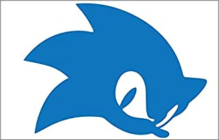 Sonic 7x4 Inch Out Door Vinyl Decal For Laptop, Car, Window, Computer, Etc. BLUE