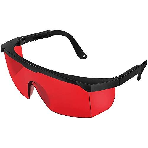 Lichtschutzbrille Schutzbrille für die HPL/IPL Haarentfernung Gerät Schutzbrille für IPL Haarentferner Einstellbar IPL Haarentfernungsgerät Brille für Körper Gesicht Bikini-Zone & Achseln (Rot)