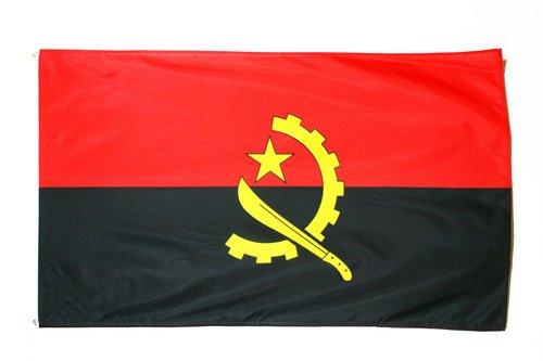 AZ FLAG Flagge Angola 90x60cm - ANGOLANISCHE Fahne 60 x 90 cm - flaggen Top Qualität