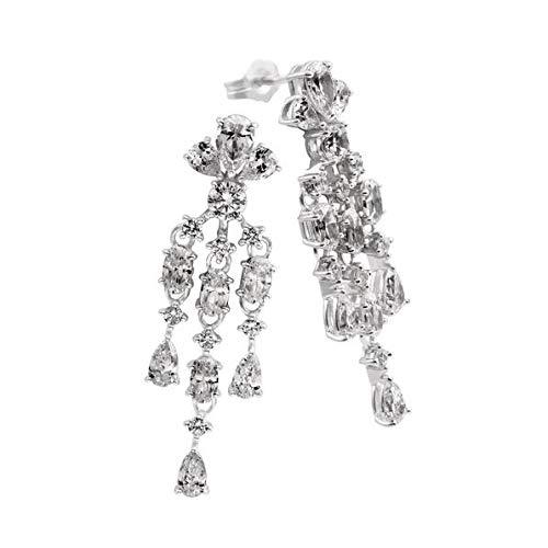 Pendientes colgantes DIAMONFIRE 6216271082 mujer plata circonitas