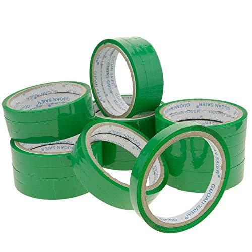 PrimeMatik - Grün Klebeband für Edelstahl Beutelverschliesser Beutelverschlussgerät Klebebandspender 24-Pack