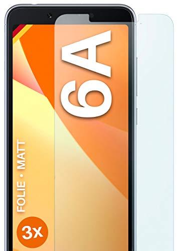 moex Schutzfolie matt kompatibel mit Xiaomi Redmi 6A - Folie gegen Reflexionen, Anti Reflex Bildschirmschutz, Matte Bildschirmfolie - 3X Stück