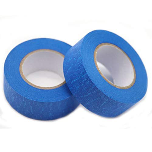 Blue Painters Tape Masking Tape 1 inch,Medium Adhesive,No Residue DIY or Professional Painter (6 Pack,22yard per roll) Photo #3