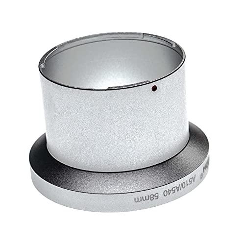 vhbw Adaptador de Filtro 58mm Compatible con Canon Powershot A510, A540 cámara, cámara Digital, Objetivos - Plata Mate en Forma de Tubo