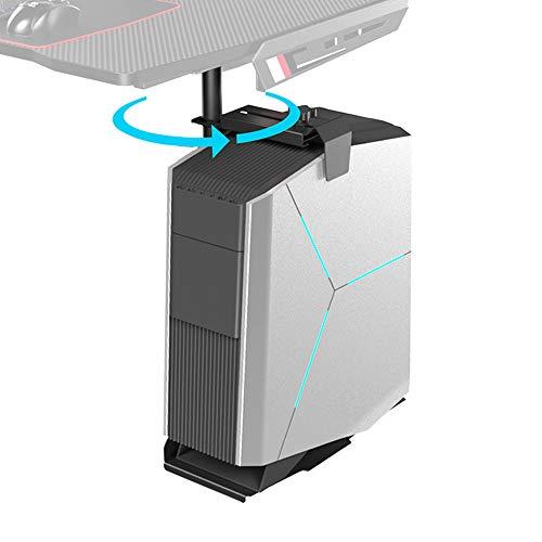 EUREKA ERGONOMIC PC Halterung Schreibtisch 360 Grad Drehbar Computerhalterung Untertisch Höhe und Breite Verstellbar für Untertisch (Schwarz)