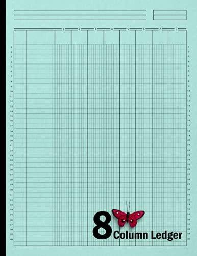 8 Column Ledger Book: Accounting Seven Column Ledger Book, Account Book, Accounting Journal Entry Book, Bookkeeping Ledger For Small Business, 120, Size 8.5