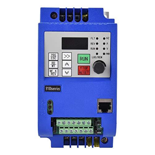 Jadpes snelheidsregelaar voor vector-motoromvormer, AC220V 2,2 kW eenfasen- tot driefasen-motoraandrijving frequentieregelaar voor frequentieomvormer met instelbare frequentie