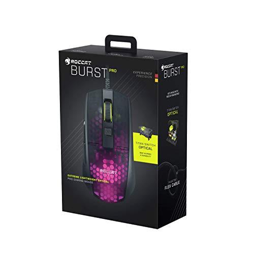 Roccat Burst Pro – Extrem leichte Optical Pro Gaming Maus (hohe Präzision, Optischer Owl-Eye Sensor (100 bis 16.000 Dpi), RGB AIMO LED Beleuchtung, 68g leicht, Designt in Deutschland), schwarz - 12