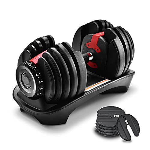 Adjustable Weight Dumbbell Fast Weight Adjust Single Set for Home Exercise...