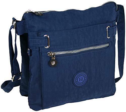 Sportieve handtas/schoudertas/schoudertas gemaakt van nylon in verschillende kleuren (marineblauw)