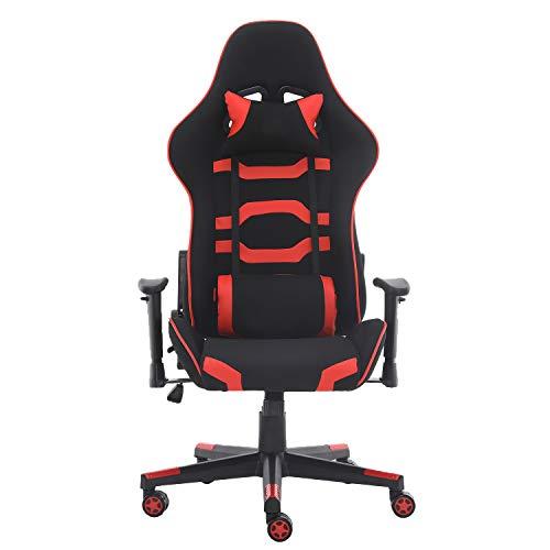 MUEBLES HOME Gaming Stuhl Computer Racing Büro Schreibtisch Stuhl PC Video Konferenzstühle Ergonomisches Design Hohe Rückenlehne Armlehne mit verstellbarer Höhe und Lendenwirbelstütze