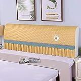 Patchwork Funda para cabecera de cama cojín corto de felpa protector de cabeza de cama a prueba de polvo estilo nórdico respaldos de tamaño