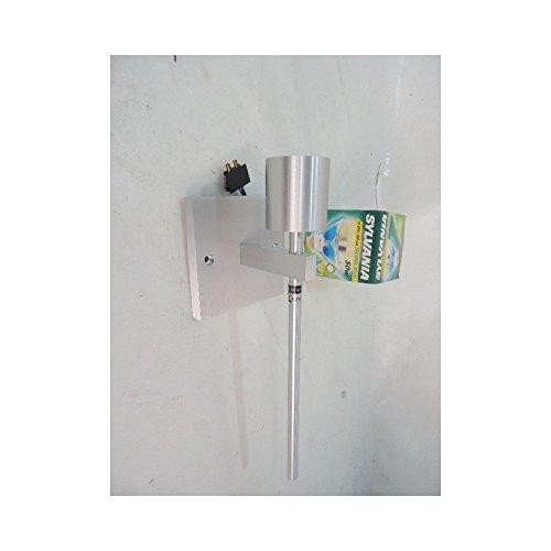Applique mural finition acier brossé tige fixe avec lampe halogène 50W GU10 230V FLARE alu ARIC 0380