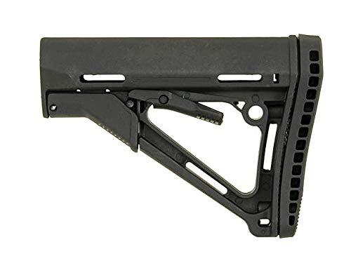 Big Dragon Compact M4 Stock mit großem Gummi-Pad-Bereich Airsoft Tunning Schaft (Black)