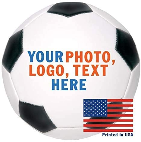 Personalized Custom Full Size Soccer Ball | Customized Soccer Ball with Name, Photo, or Text | Trophy or Gift for Coach, Son, Boyfriend, Daughter, Dad, Mom or Any Soccer Fan (Soccer Ball with Base)