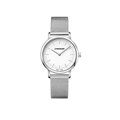 Wenger Damen Urban Classic Lady - Swiss Made Analog Quarz Edelstahluhr 01.1721.111