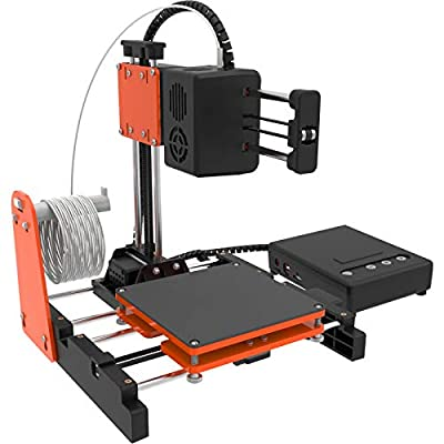 """TTLIFE Mini 3D Printer for Kids & Beginners, Small 3D Printer with Magnetic Plate, Fast Heating, Low Noise, Printing Size 4""""×4""""×4"""", Free 10m(L) 1.75mm(D) Testing Filament, Orange"""
