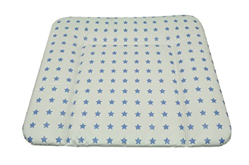Asmi Wickelauflage Soft 72/85 cm Sterne Seidenblau