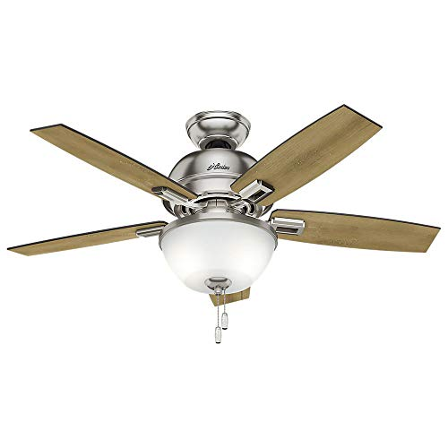 Hunter Donegan Indoor Ceiling Fan with LED Light and Pull Chain Control, 44', Bronze/Dark
