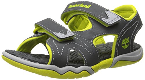 Timberland Active FTK_Adventure Seeker 2 Unisex-Kinder Sandalen, Grau (Dark Grey With Green), 30 EU