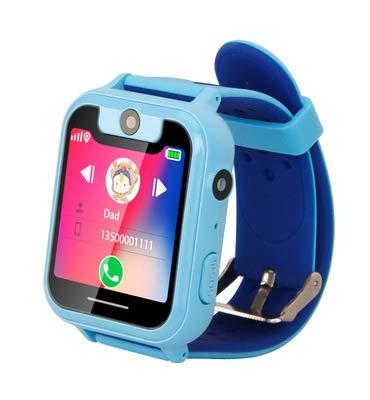 Intelligente Kinderuhr mit SOS und Tracker, großem Touchscreen, bidirektionalem Voice-Chat und Mathe-Alarm ist das Beste Geburtstagsgeschenk für Jungen und Mädchen im Alter von 3 bis 14 Jahren