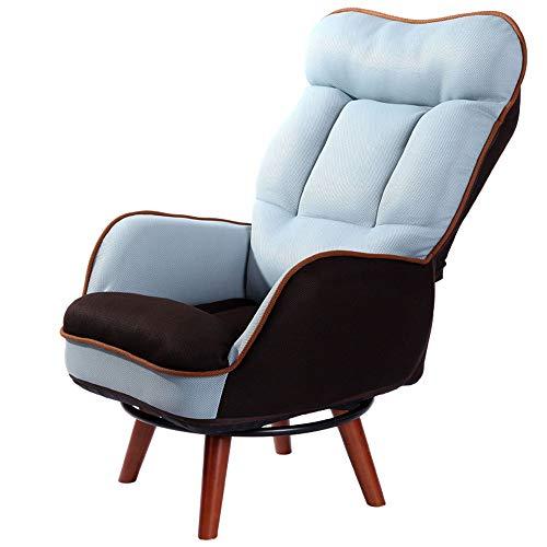 Axdwfd Liegestuhl Lounge Chair, Lazy Couch Hoher Rücken Stillen Lounge Chair Wohnzimmer Balkon Schlafzimmer Ältere Menschen Lesen Zeitung Schwangere Frauen Füttern Sofa Chair (Color : Blue)