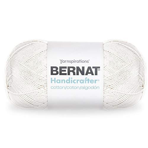 Bernat Handicrafter Cotton Yarn, 14 oz, 100% Cotton, Ball Off White