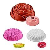 VVXXMO Moldes de silicona con forma de flor para tartas de pan, pasteles, flan o tartas para el día de San Valentín