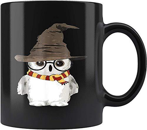 Divertido búho lindo harry mago mágico potter tazas mugreeva taza