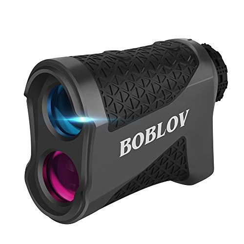 BOBLOV 650Yards Slope Golf Rangefinder 6X Magnification Range Finder Vibration Flag Locking Extra Scanning Continuous Mode Lifetime Battery Relacement Service (K600AG with Slope) (K600G without Slope)