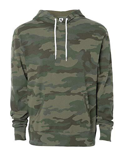Global Blank Lightweight Hooded Fleece Pullover Sweatshirt Active Hoodies for Men & Women Camouflage