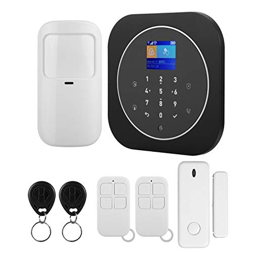 FOLOSAFENAR Alarma gsm + WiFi Seguridad antirrobo para el hogar Luz Anti-Blanca Pantalla a Color Tft de 1,8 Pulgadas(European Standard (100-240v))
